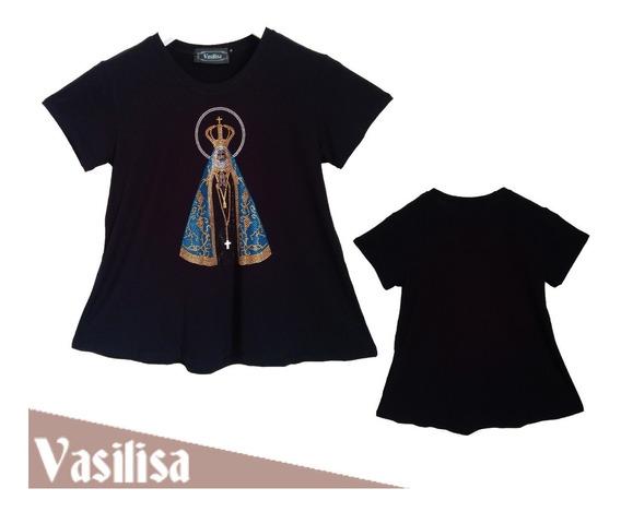 Blusa Roupa Feminina Estampa Nossa Senhora Aparecida P Ao G3