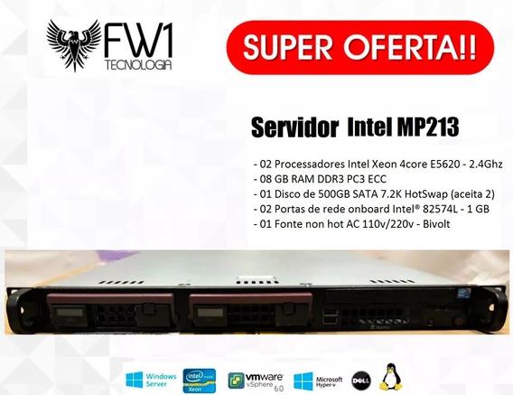 Servidor Intel Itautec 2x Xeon Quad Core 8gb 500gb Hd 1u