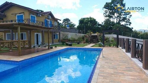 Chácara Com 6 Dormitórios À Venda, 1900 M² Por R$ 1.400.000 - Vale Dos Pinheiros - Atibaia Sp - Ch1254