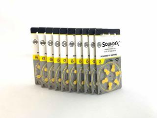 Pilas Auxiliares Auditivos Soundex 10 10 Paquetes De 6 C/u