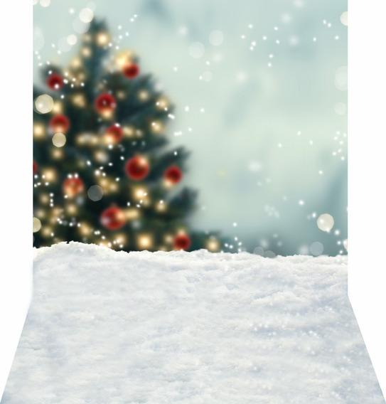 Fundo Fotografico Natal Flocos De Neve Em Tecido 1,6m X 2,6m
