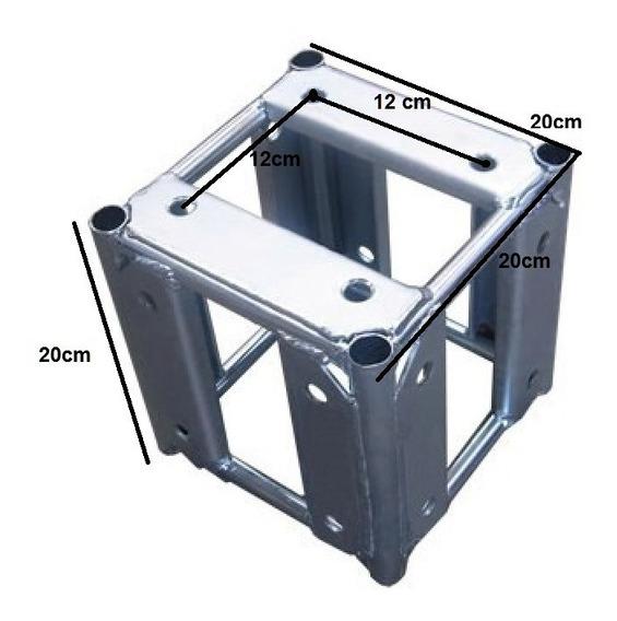 Cubo Treliça 20x20cm 5 Faces Trave Grid Galvanizado Auratec