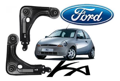 Imagem 1 de 6 de Par Bandeja Pivo Bucha Ford Ká 2002  Completa Original