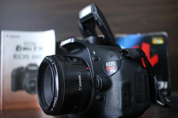 Câmera Canon T3i Com Lente Fixa 50mm 1.8 /não É T5i T6i T6