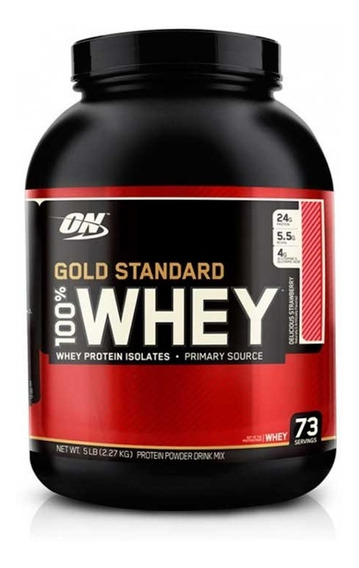 Proteina On 100% Whey Gold Standard 5 Lbs Fresa