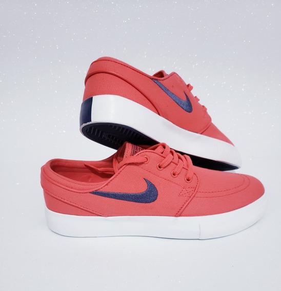Tênis Nike Sb Zoom Stefan Janoski Canvas Vermelho Skate Casual Sapatenis Original