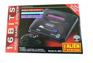 Consola Alien 16 Bits Tipo Sega Genesis 2 Ct Mmk 9901