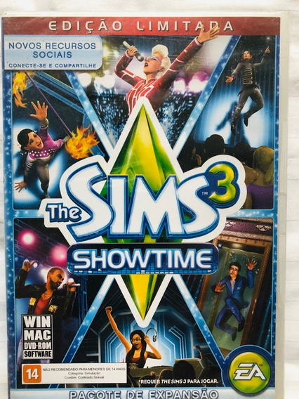 Jogo The Sims 3 Showtime- Pc- Mídia Física- Original Lacrado