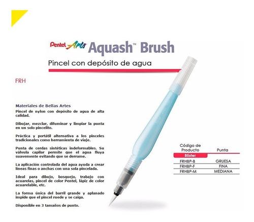 Imagen 1 de 4 de Pincel Aquash Brush Pentel Elige: Fino/mediano/grueso