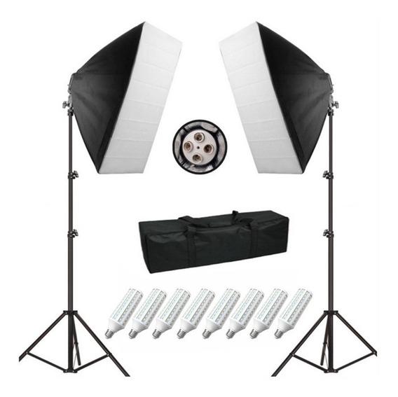Kit Softbox Greika Filmagem Youtuber 480w Pk-sb01 Bivolt