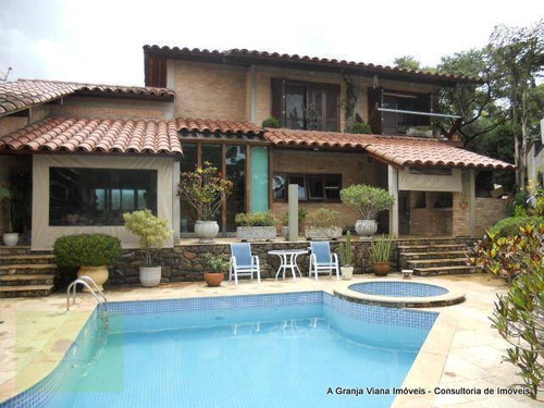 Casa Com 4 Dormitórios À Venda, 450 M² Por R$ 2.500.000,00 - Granja Viana - Carapicuíba/sp - Ca0169
