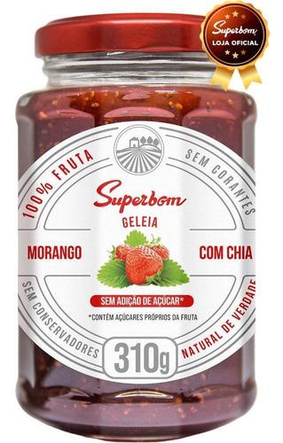 Geleia De Morango Com Chia 310g - Superbom.