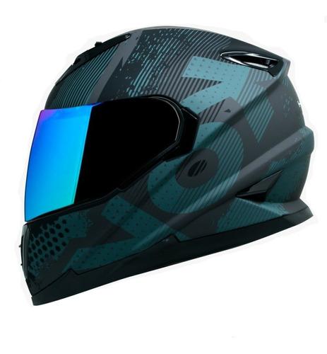 Casco Para Moto Kov Veneno Match One Negro
