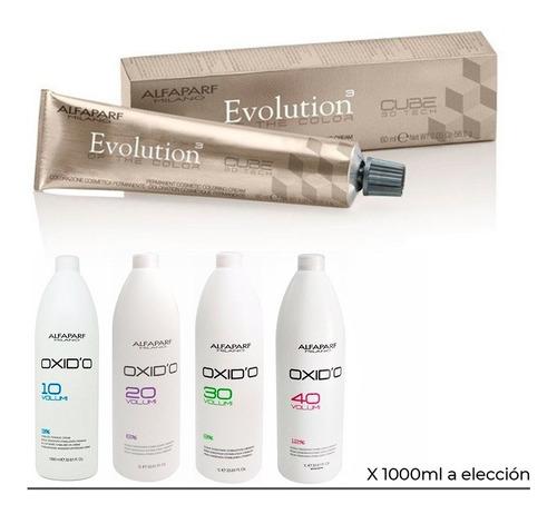 Imagen 1 de 8 de Kit 12 Tinturas Alfaparf Evolution X60ml+ Oxidante X 1000ml