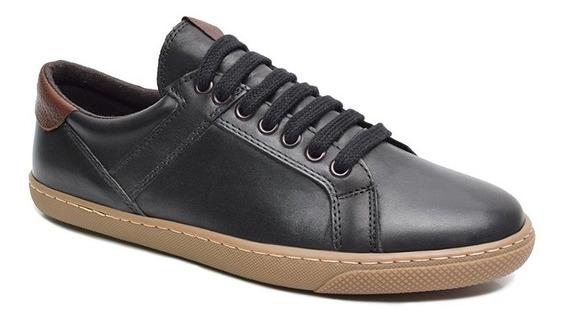 Zapatillas Cuero Negra Free Comfort