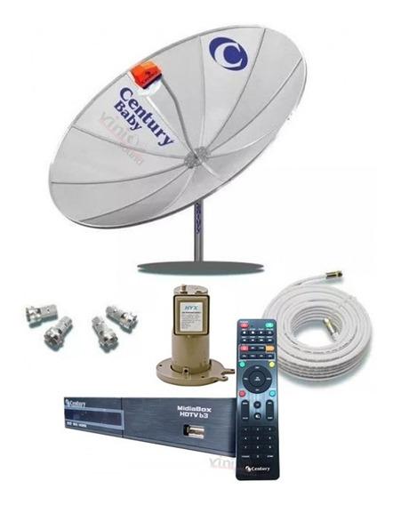 Parabólica Digital Com Receptor Century Midiabox Multiponto