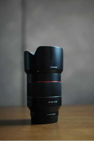 Lente Full Frame Rokinon Auto Focus 50mm F1.4 Sony Emount
