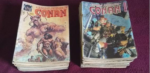 Lote 67 Edições Espada Selvagem De Conan Leia O Anúncio/