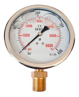 Manómetro Con Baño De Glicerina, De 0-400 Bar