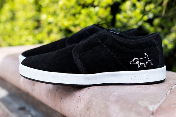 Tenis Hey Dog Skate Terry Slip On Negro Original