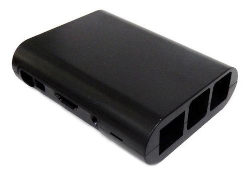 Raspberry Pi 3 Case Plástico Preto Caixa Raspberry