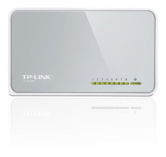 Switch Tp-link 8 Puertos Tl-sf1008d 10/100 Mbps Pc