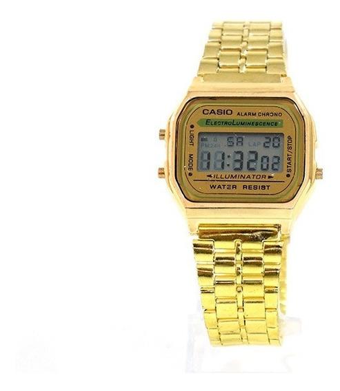 Relógio Digital Casio Dourado