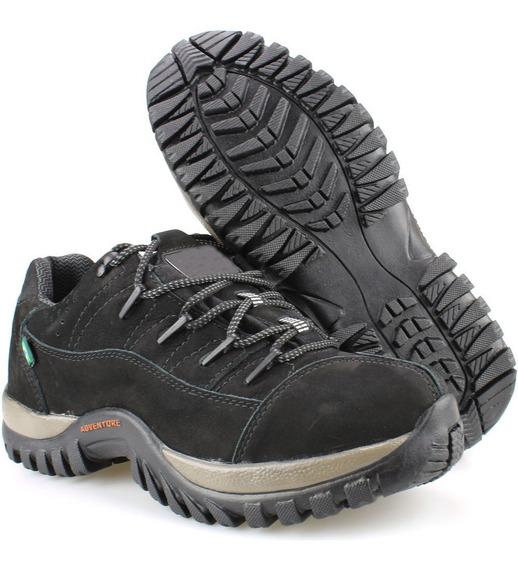 Tenis Sapato Bota Sapateni Coturno Masculino Couro Adventure