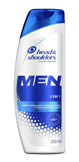 Shampoo Head & Shoulders Anticaspa 3 Em 1 Masculino 200 Ml