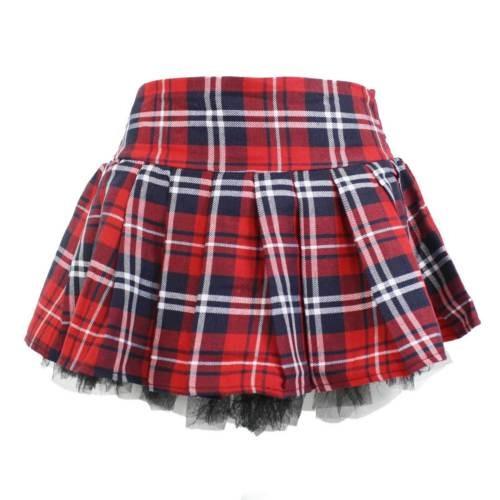 Atractiva De La Escuela Chica Falda Traje Travieso Plisado