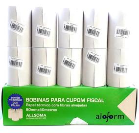 Bobina Térmica 80mmx40m(bematech, Epson, Daruma, Elgin) C/10