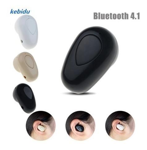 Mini Fone Ouvido Sem Fio Bluetooth Cor Bege