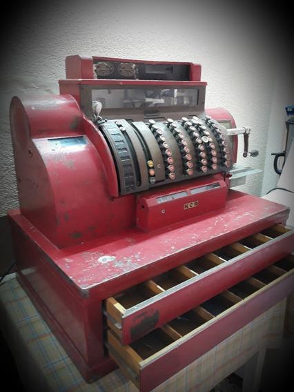 Antigua Caja Registradora Bar Ncr Funcionando Vintage Top!!!