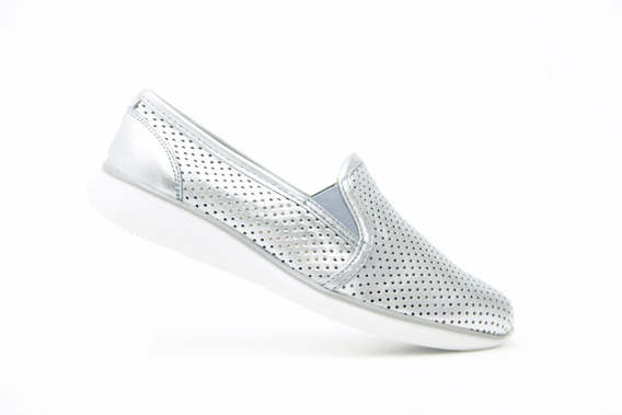 Flexi Dama Zapatos Comodos 28202 Plata Originales