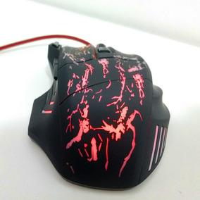 Mouse Gamer 7 Botões 5500 Dpi Cabo Revestido Em Malha Nylon