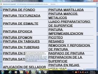 Construccion Presupuest Tabulador Mano Obra Octubre 2019