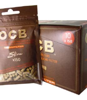 1 Caja De Filtros Ocb Slim Virgen 10 Unidades