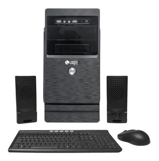Computador Completo Login Quad Core 4gb 1tb Dvd-rw Linux