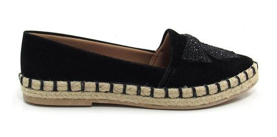 Sapatilha Alpargata Feminina Olfer Shoes 3173 Bico Fino