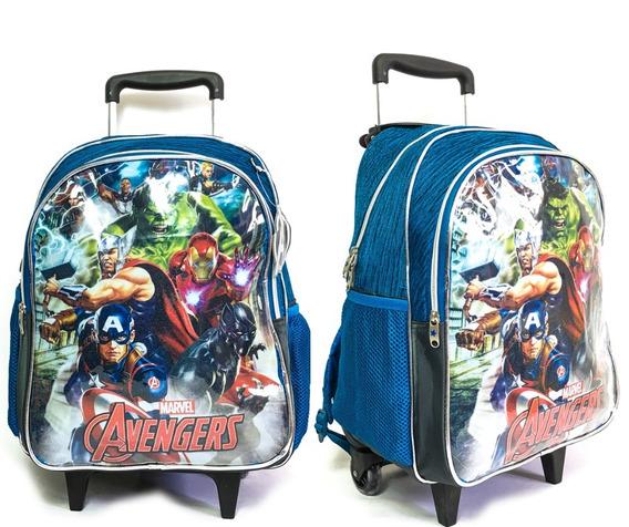 Mochila De Rodinhas Escolar Infantil Avengers Vindadores