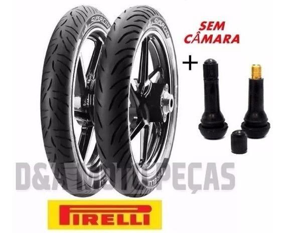 Par De Pneus Pirelli Suzuki Yes 125 Sem Câmara + Bicos