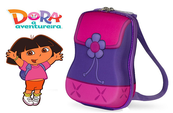 Lancheira Infantil Escolar Marmiteira Com Alça Dora Friends