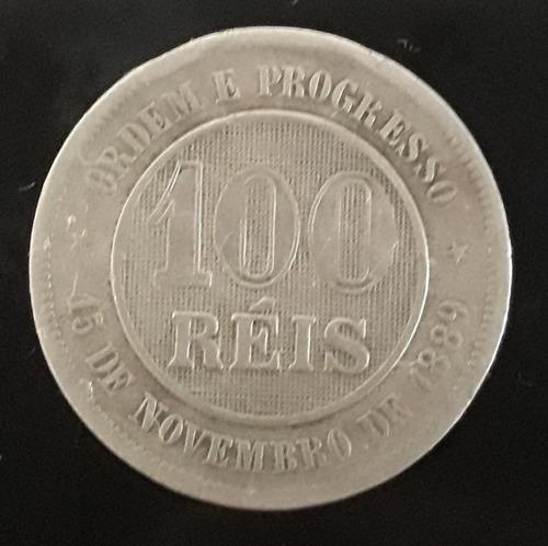 Imagem 1 de 2 de Moeda 100 Réis Ano 1894