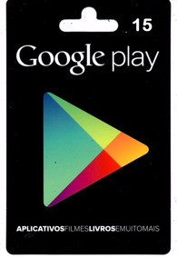 Cartão Google Play Gift Card 15 Reais Br - Android Playstore