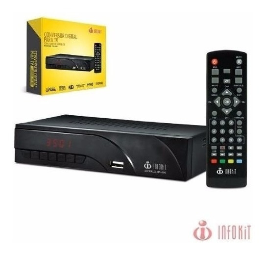 Conversor Digital Para Tv Infokit Controle Remoto Hdmi Rca