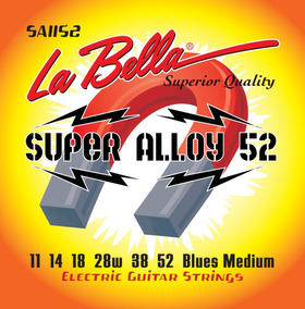 Encordoamento Guitarra La Bella Super Alloy 52 Blues Medium#