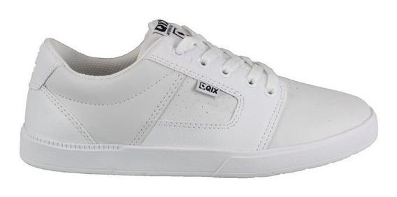 Tênis Qix Skate Branco White Masculino E Feminino Original Couro Sintético Envio Imediato Promoção Frete Grátis