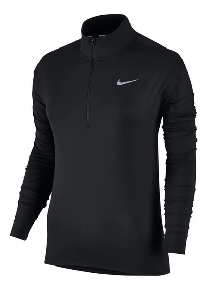Playera Nike Running Dry Element 1/2 Zip Negro Talla Chica