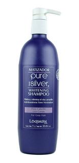 Shampoo Matizador Canas Pure Silver 1l Loquay Envío Gratis