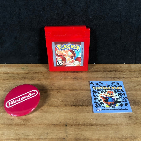 Pokemon Red Vermelho Original Lindo Salvando P/ Gameboy!!